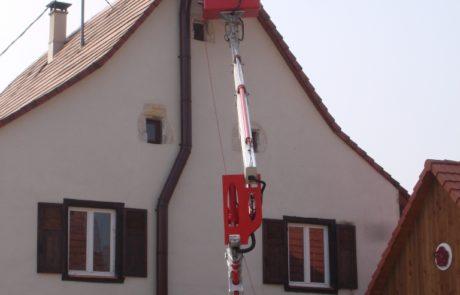 Installation d'un Conduit Modinox PTR Extérieur laqué Brun avec Nacelle