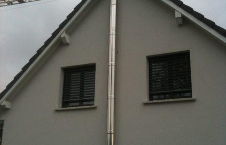 Conduit Modinox PTR Extérieur avec Té double et coudes de dévoiement de toiture