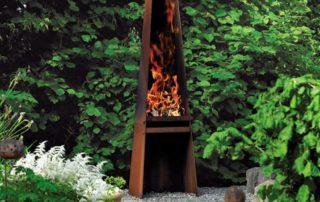 Barbecue-Braséro métal rouillé Attika Gizeh