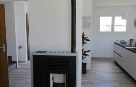 Poêle à Granulés MCZ Flair Modèle Plat Réservoir à Gauche Habillage Serpentine