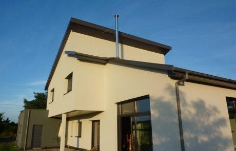 Conduit Modinox PTR Sortie de toiture Inox avec haubanage