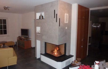 Cheminée Contemporaine Rüegg 720 Habillage Granit