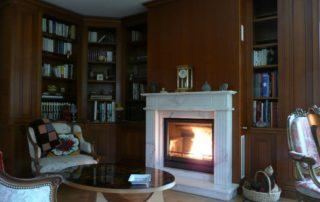 Cheminée de Style Foyer Bodart et Gonay Optifire Habillage Marbre
