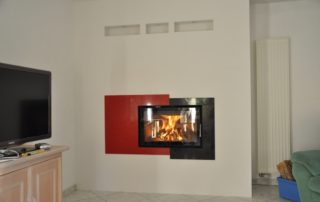 Cheminée Contemporaine Foyer BG Fires Optifire Plat 1 Face Habillage Quartz