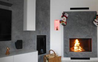 Cheminée Contemporaine avec Foyer BG Fires Phénix 1000 Plat 1 Face Panneau Autoportant