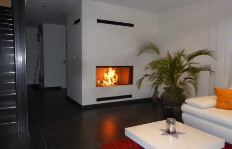 Cheminée Contemporaine avec Foyer BG Fires Phénix 120 Plat 1 Face