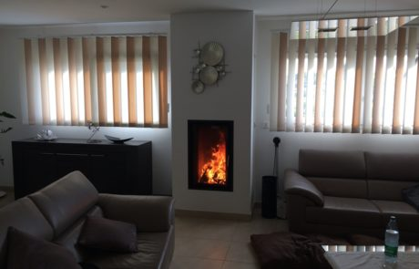 Cheminée Contemporaine avec Foyer BG Fires Concept 540 V Plat 1 Face