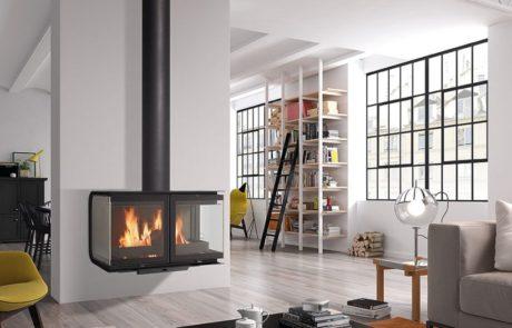 Cheminée Design Accrochée Métal Rocal City Moderne