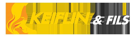 KEIFLIN et Fils. Poêles en faïences, poêles et cheminées Hésingue Haut-Rhin 68. Logo