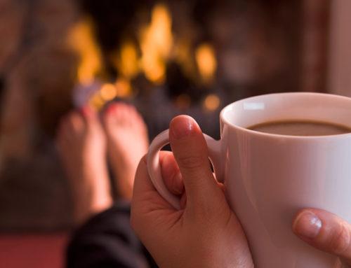 A l'arrivée de l'automne, quoi de mieux qu'un thé, un plaid et un bon feu de cheminée ??