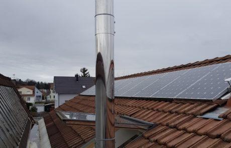 Conduit Modinox PTR Sortie de toiture Rallongée avec kit de non haubanage Inox
