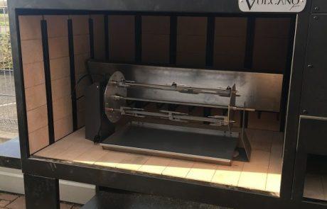 Barbecue Grill Rotisserie Vulcano Fire Art Monobloc Noir (existe effet rouille)