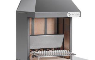 Barbecue Grill Vulcano Fire Art VT650 Acier Noir