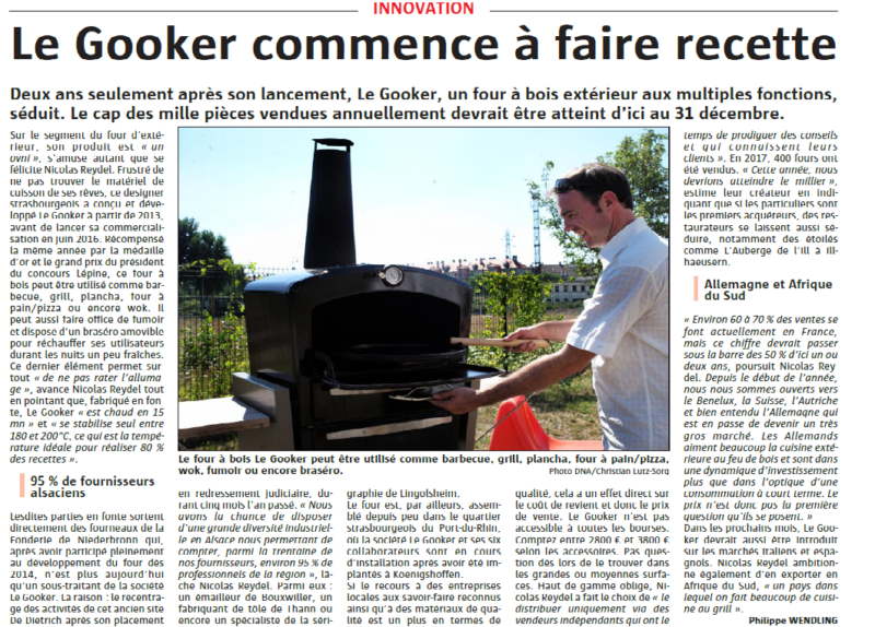 Article de presse le Gooker