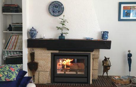 Insert BG Fires dans une cheminée existante