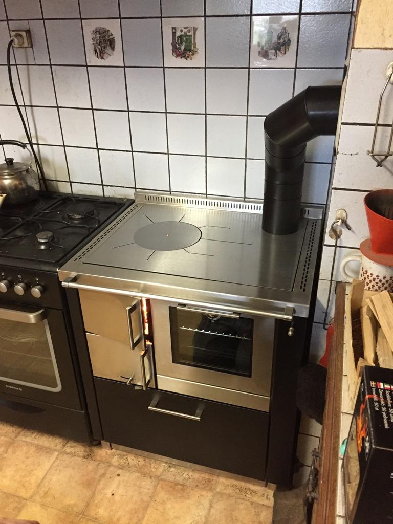 Cuisinière à bois Pertinger Ökoalpin 70 Habillage Noir et Inox