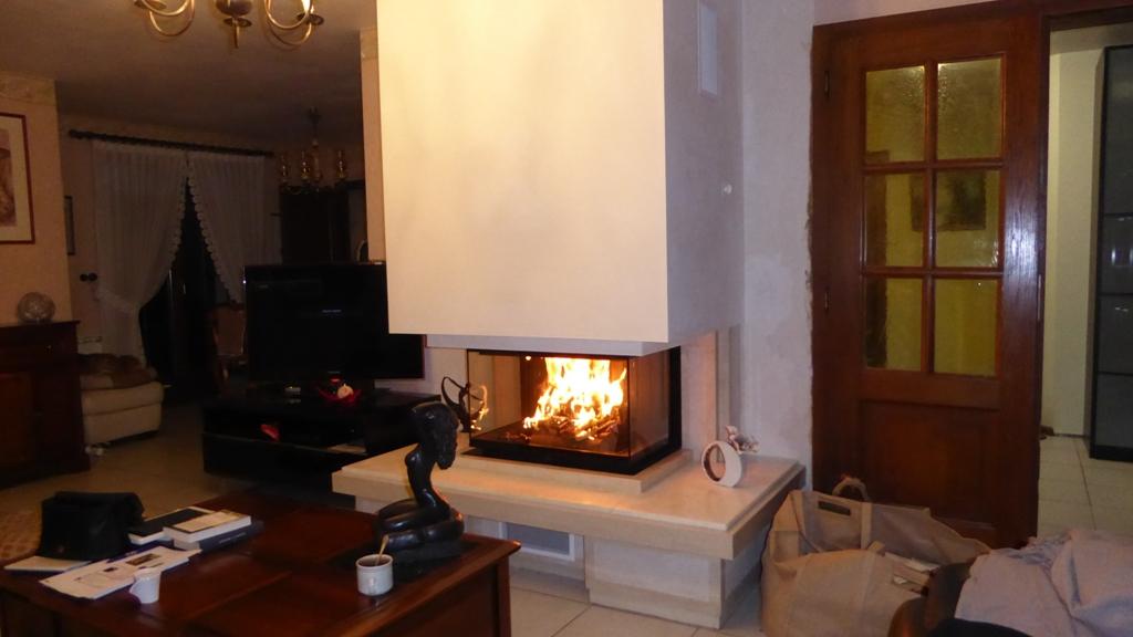 Cheminée 3 Faces Ruegg R3 100x55 Ajustage à cheminée existante
