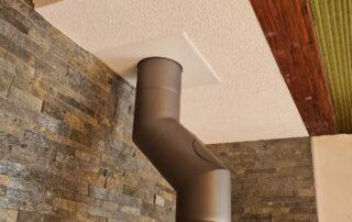 Caisson de finition crépi au plafond